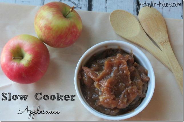Applesauce in the slow cooker