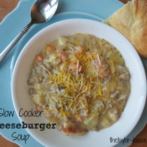 Souper Sunday: Slow Cooker Cheeseburger Soup
