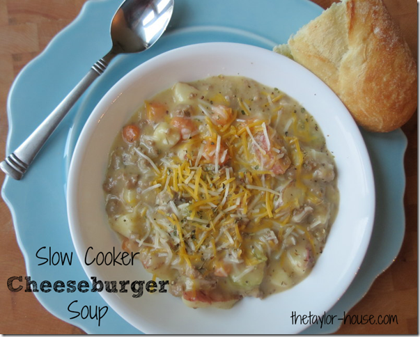 Slow Cooker Recipes, Cheeseburger Soup, slow cooker cheeseburger soup