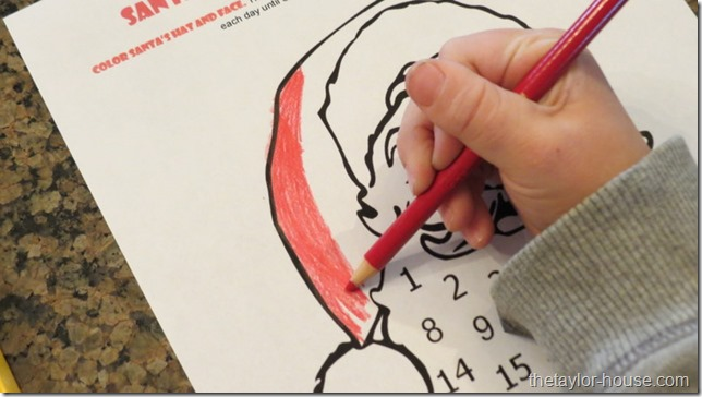 Count Down To Christmas, Santa Beard Advent Calendar, Printable Advent Calendar
