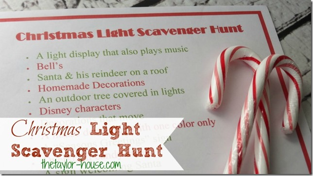nature scavenger hunt for kids, Christmas Scavenger Hunt