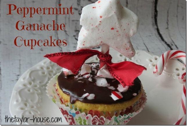 Peppermint Ganache Cupcakes, Peppermint Ganache
