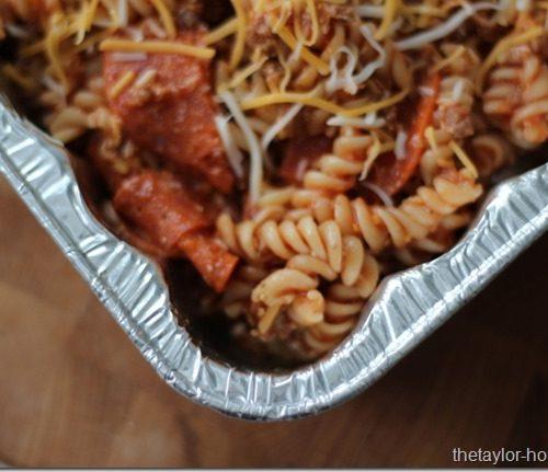 Freezer Meals: Pizza Casserole