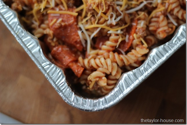 Freezer Meals, Pizza Casserole