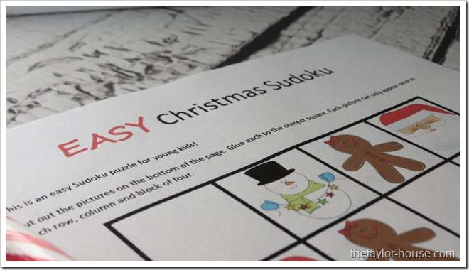 Christmas Activity, Christmas Sudoku, Free Christmas Printable