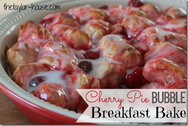 Christmas Morning Breakfast, Cherry Pie Bubble Breakfast Bake