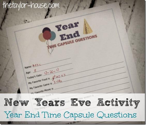 New Years Eve Activity