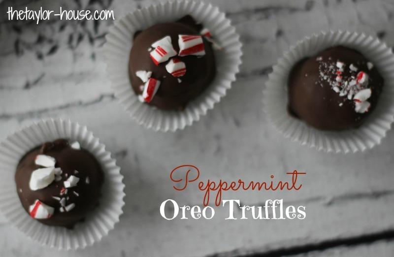 Christmas Treats Peppermint Oreo Truffles The Taylor House