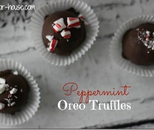 Christmas Treats: Peppermint Oreo Truffles