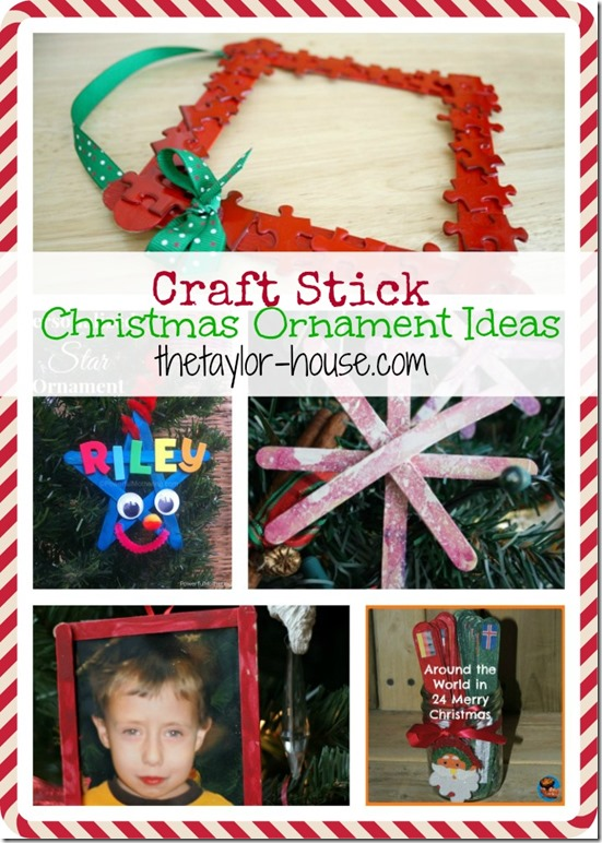 14 Craft Stick Christmas Craft Ideas The Taylor House