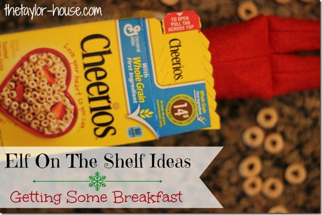 Elf On The Shelf: Getting Breakfast #elfontheshelf