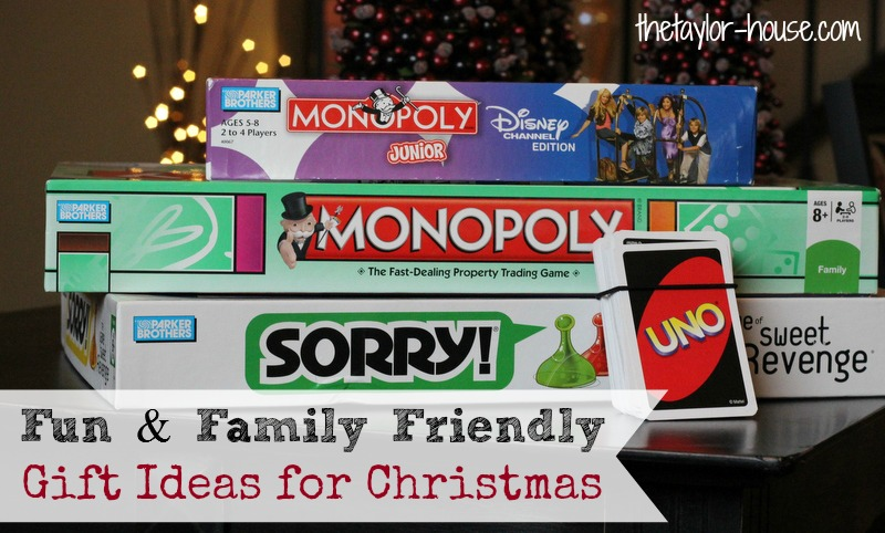 Fun & Family Friendly Gift Ideas