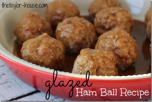 Glazed Ham Balls, Easy Recipes, #DeliciouslySimple