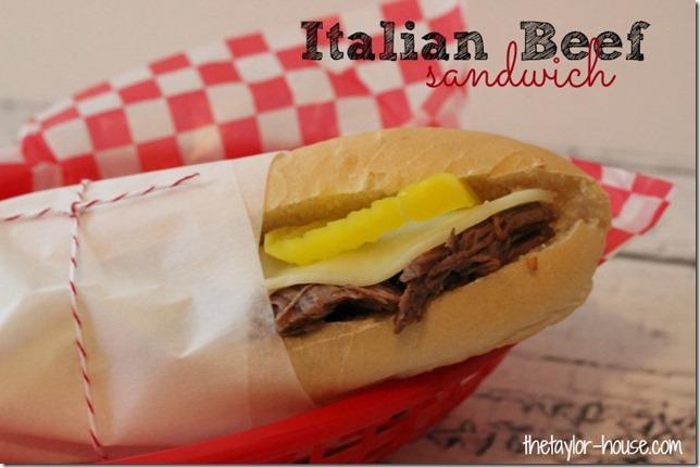 Italian Beef Sandwich, #CampbellsSkilledSauces, Slow Cooker Italian Beef