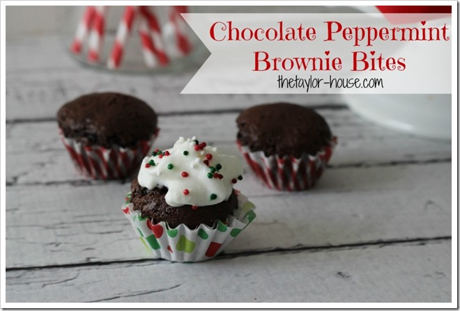 Chocolate Peppermint Brownie Bites, American Heritage Chocolate