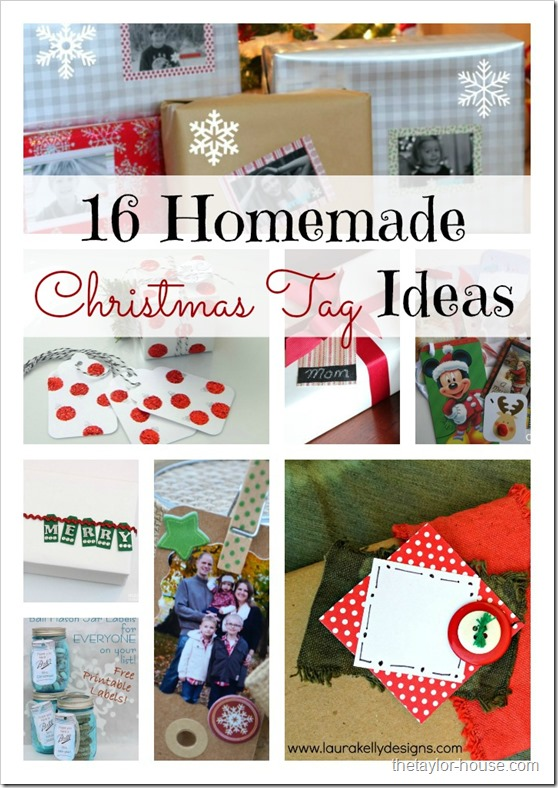 16 Homemade Christmas Tag Ideas - The Taylor House