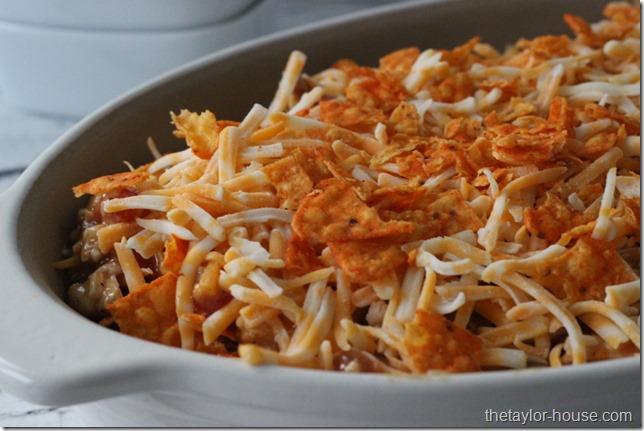 Dorito Chicken Casserole, Mexican Dorito Casserole, Mexican Casserole