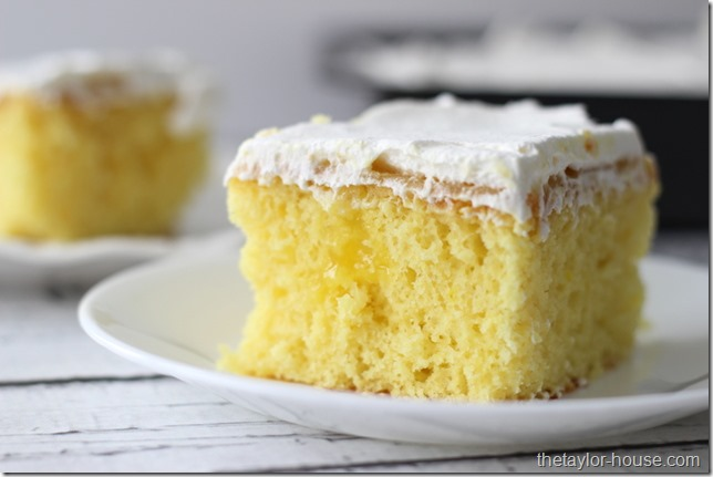 Lemon Poke Cake, Easy Dessert, Lemon Dessert