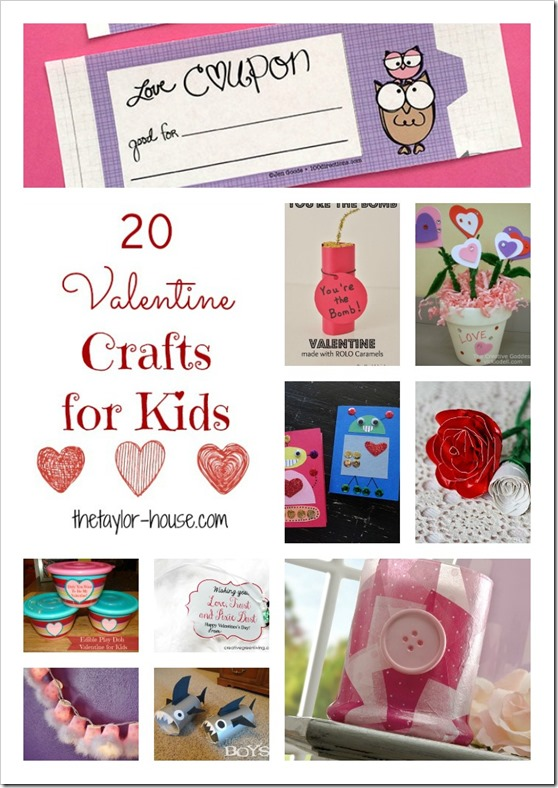 kid Valentine Crafts, Valentine Crafts, Valentines Day