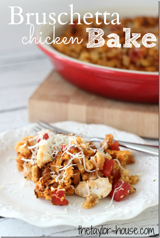 Bruschetta Chicken Bake, Chicken Recipes, Easy Recipes