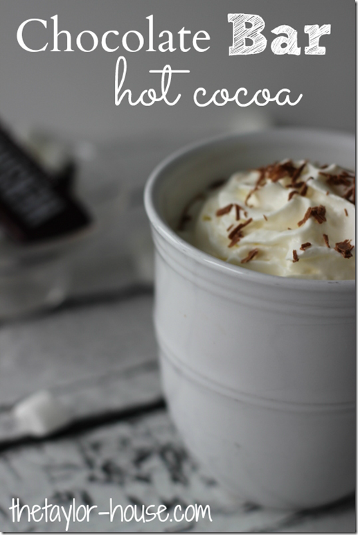 Chocolate Bar Hot Cocoa, Hot Chocolate Recipe, Hot Chocolate, Candy Bar Hot Cocoa