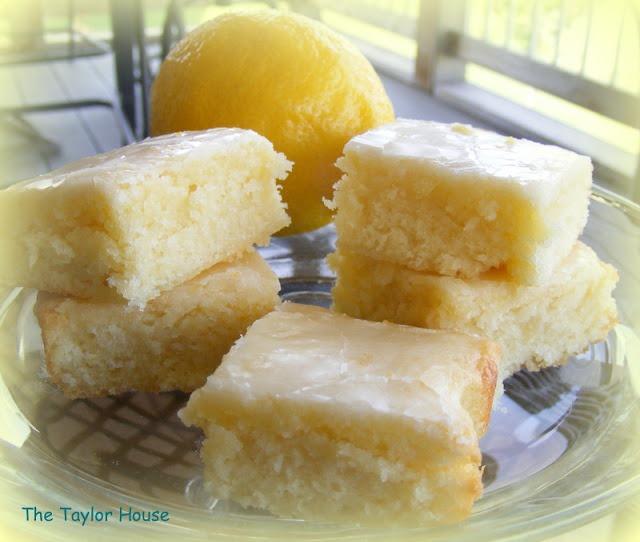 Lemon Brownies Made With Box Of Cake Mix