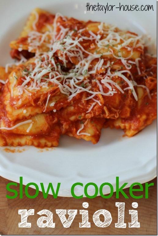 Slow Cooker Ravioli, Ravioli, Easy Recipes