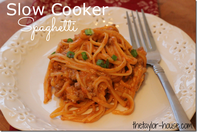 Slow Cooker Spaghetti, Slow Cooker Recipes