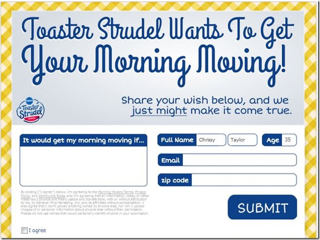 Toaster Strudel, Morning Movers, Pillsbury, Giveaway, Jarrod Neiman