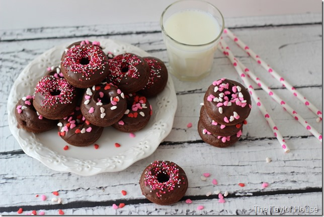 Double Chocolate Donuts, Homemade Donuts, BabyCakes, Valentine Donuts