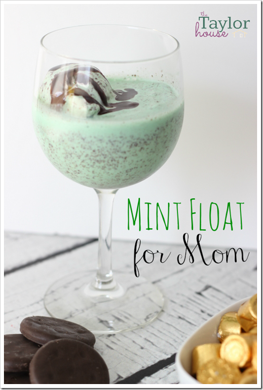 Adult Mint Float, Mint Float, Chocolate Mint Float, St. Patrick's Day Float