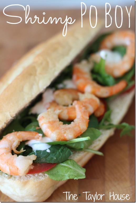 Shrimp Po Boy, Shrimp Sandwich Recipe, Shrimp Po Boy Recipe, Shrimp Sub Sandwich