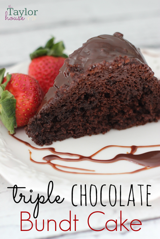 Triple Chocolate Cake, Chocolate Bundt Cake, Chocolate Ganache