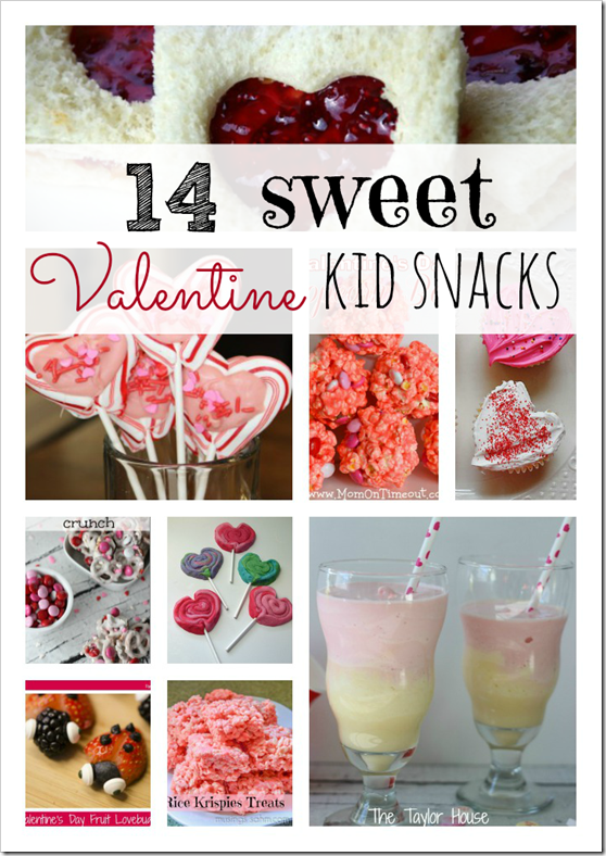 Valentine Kid Snacks, Valentine Treats