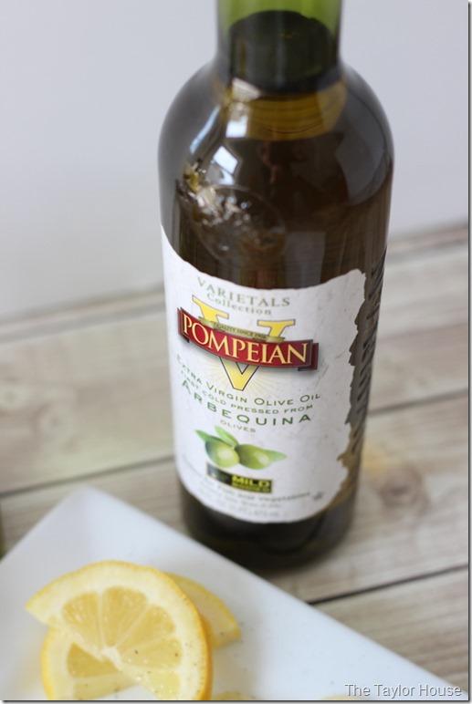 Lemon Garlic Shrimp, Pompeian Olive Oil, Healthy Recipes, #PompeianVarietals, ad