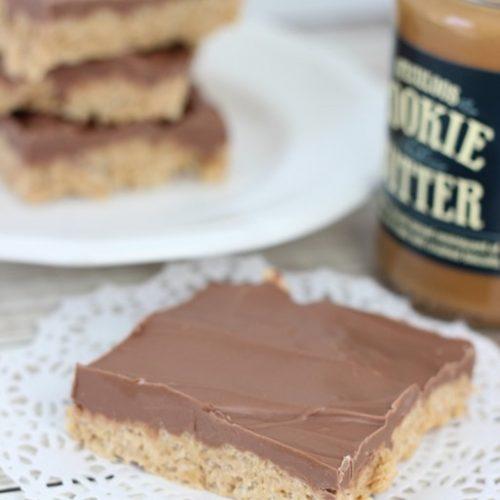 Cookie Butter Krispie Bars
