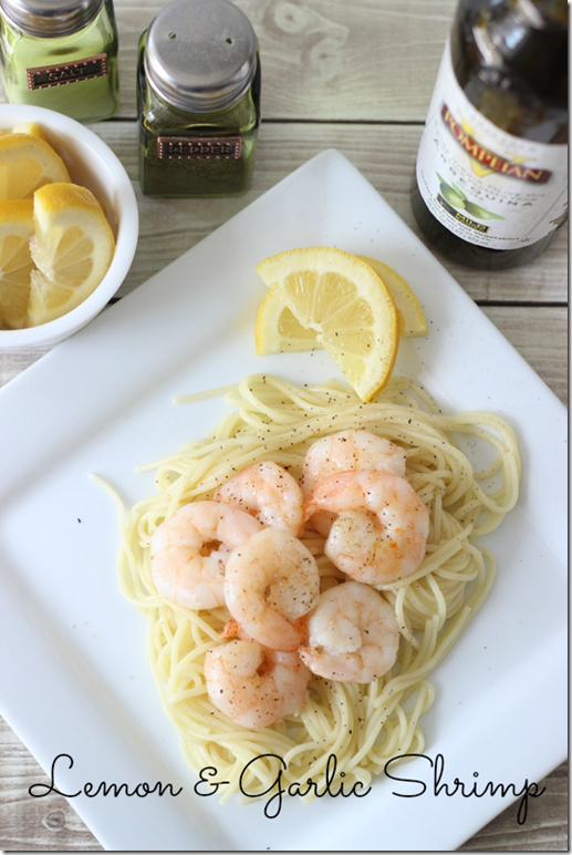 Lemon Garlic Shrimp, Pompeian Olive Oil, Healthy Recipes, #PompeianVarietals, ad