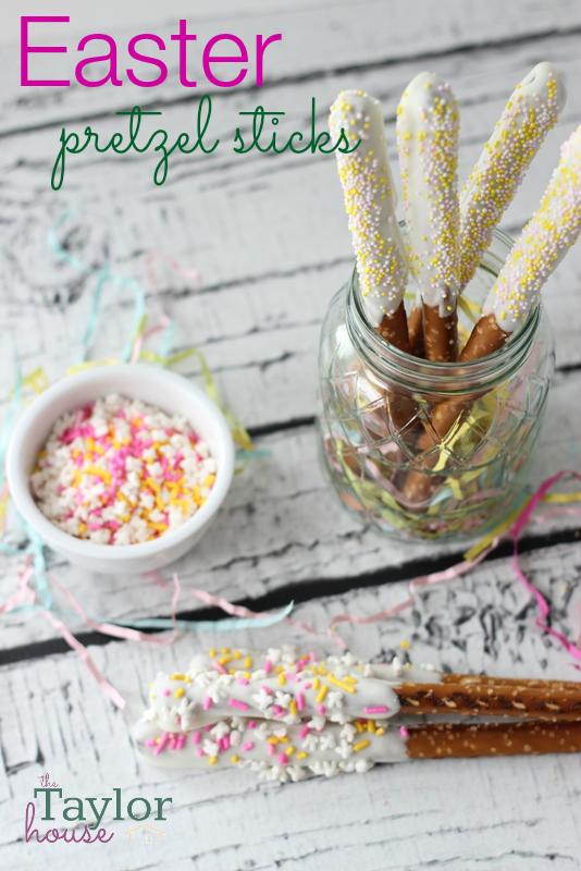 Easter Recipes, Easter Treats, Pretzel Sticks, Candiquik, Dipped Pretzels