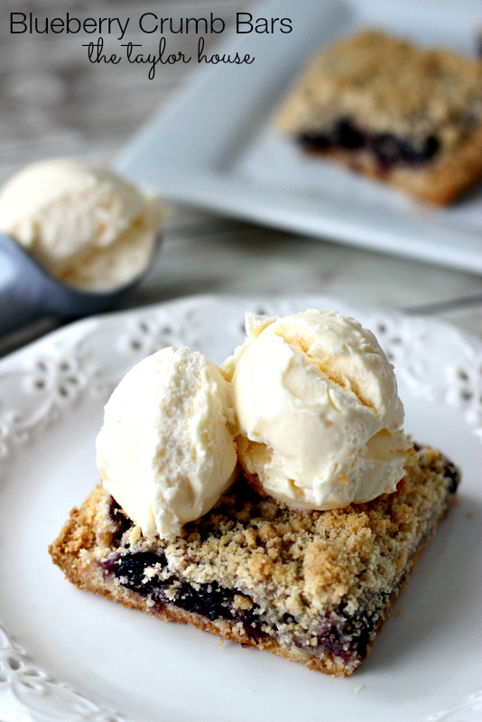 Blueberry Crumb Bars, Blueberry Bars