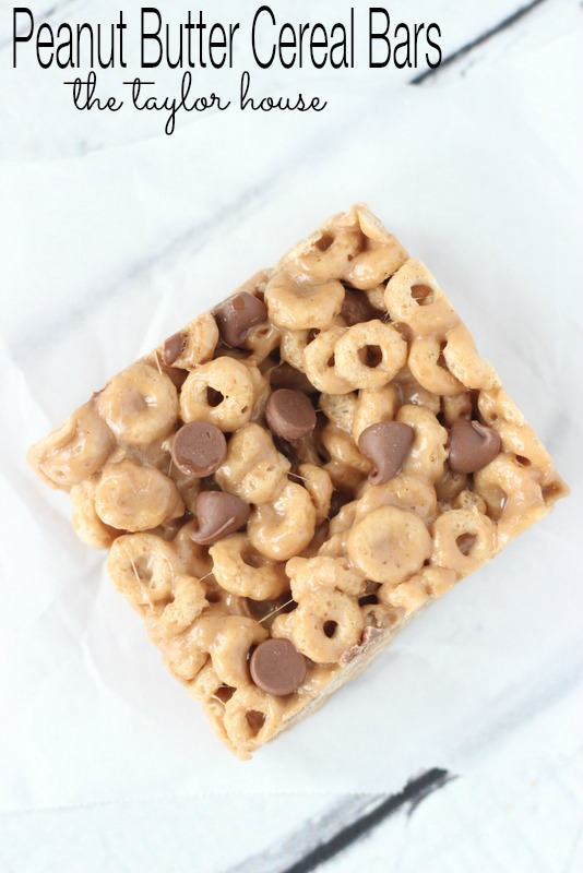 Peanut Butter Cereal Bars, Peanut Butter Bars, Cereal Bars, Homemade ...