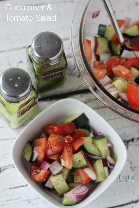 Cucumber Tomato Salad, Easy Garden Salad, Cucumber Salad, Tomato Salad