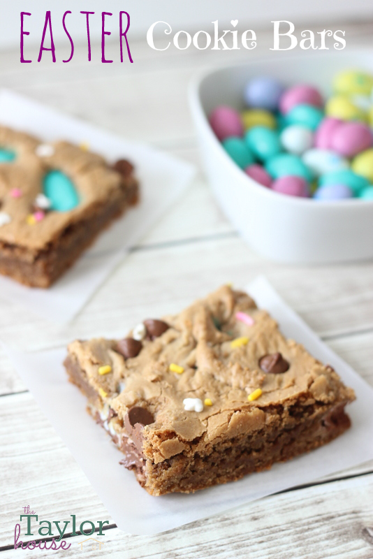 Easter Cookie Bars, Easter Desserts, Easter M&M Bars, Easter Bars, Easter Cookies