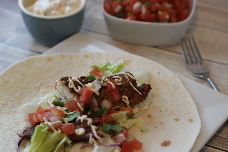 Easy fish tacos and sauce the taylor house for Fish taco dressing