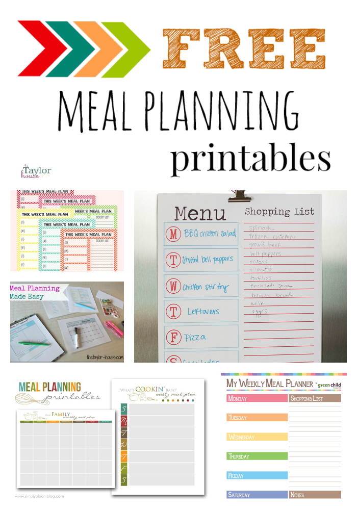 photograph relating to Meal Planning Printable referred to as 5 Wonderful No cost Dinner Program Printables - Site 2 of 2 The