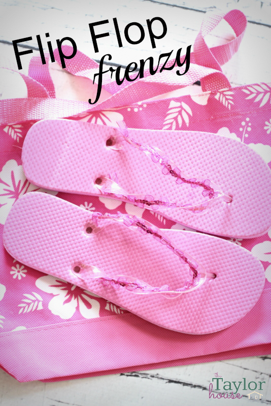 Dollar Tree Crafts, Dollar Tree Entertaining, Flip Flop Frenzy