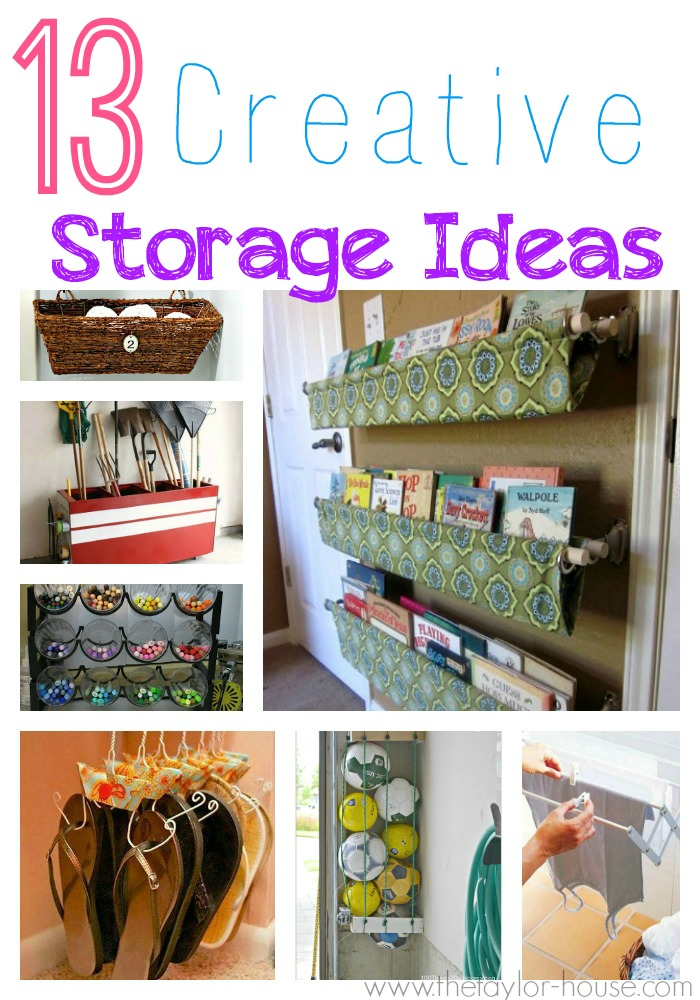 13 creative storage ideas for your home the taylor house for Creative shelf ideas