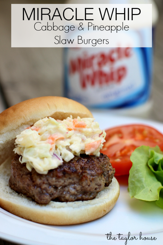 Burger Recipes, Miracle Whip, Miracle Whip Slaw Burgers, #ProudOfIt