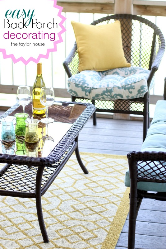 Back Porch Decorating Ideas The Taylor House