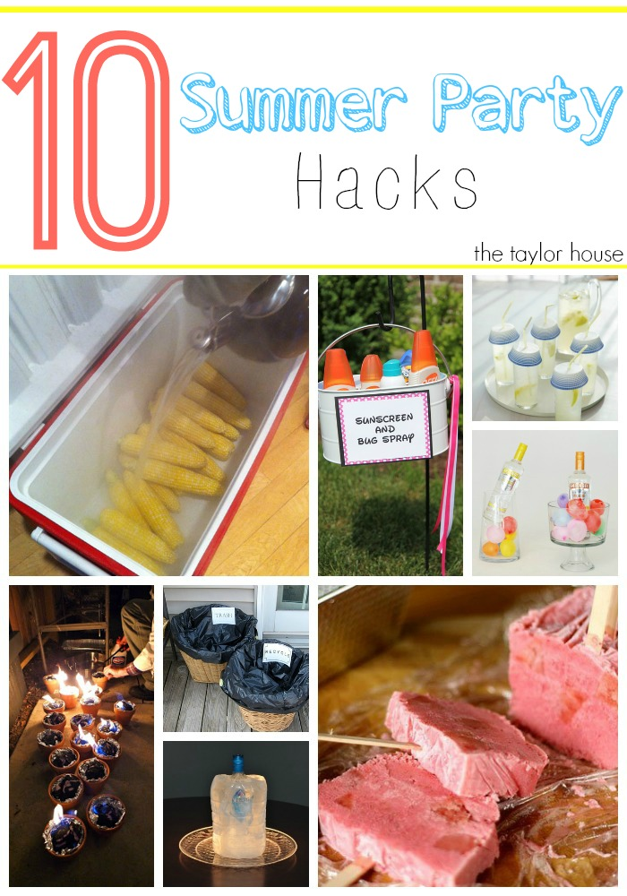 Summer Party Hacks, Summer Party Ideas