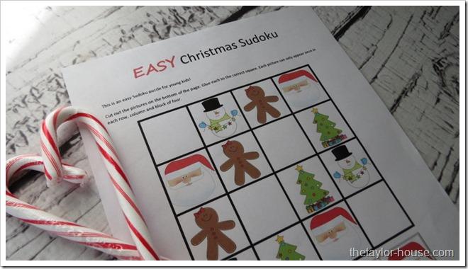 photograph relating to Christmas Sudoku Printable identify Simple Xmas Sudoku: Totally free Printable The Taylor Household